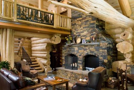 Mark Austin Homes » Blog Archiv » Log Cabin Interiors